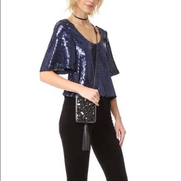 Free People Tops - NWT Free People Night Fever Sequin Top Sz Medium